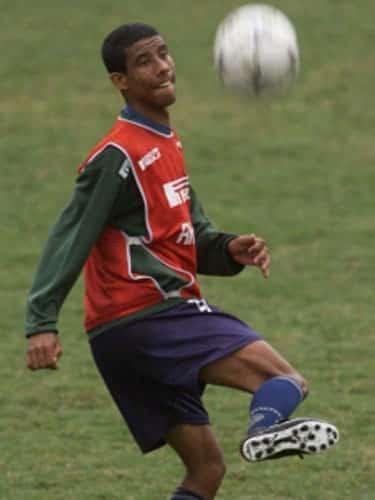 Léo Moura treinando pelo Palmeiras.