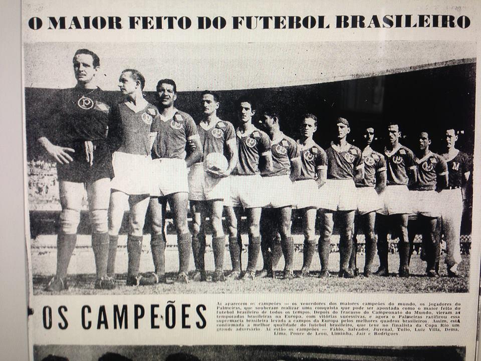 Time do Palmeiras campeão mundial de 1951.
