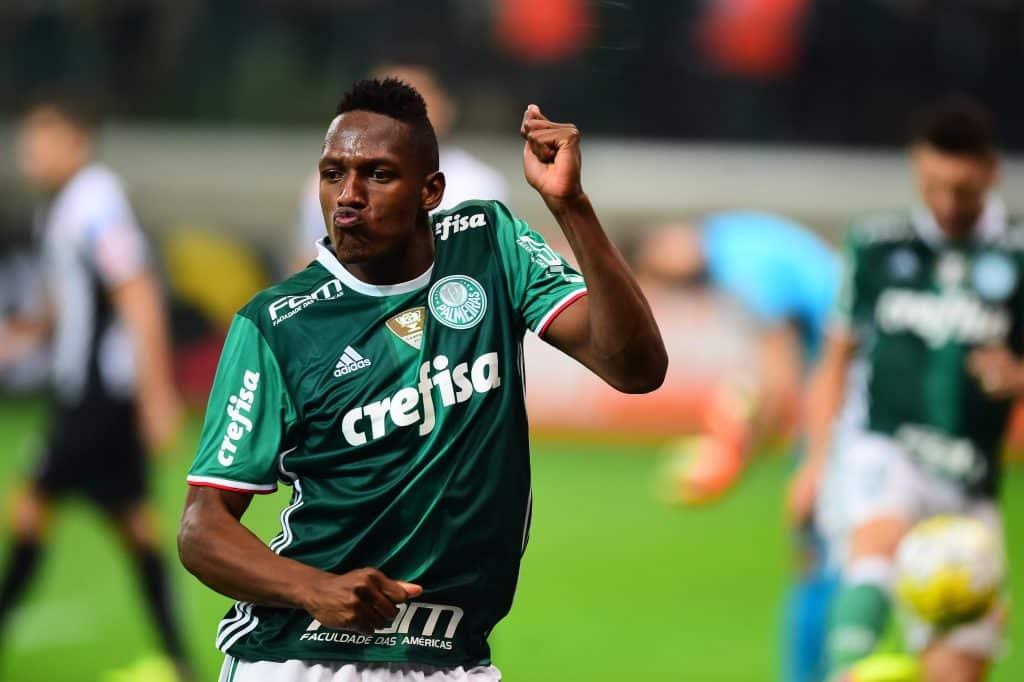Mina e sua dança ao comemorar um gol pelo Palmeiras.